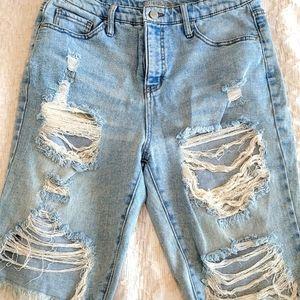 Wild Fable Bermuda Jean Shorts